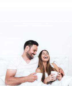 couple wake up fresh in the morning
