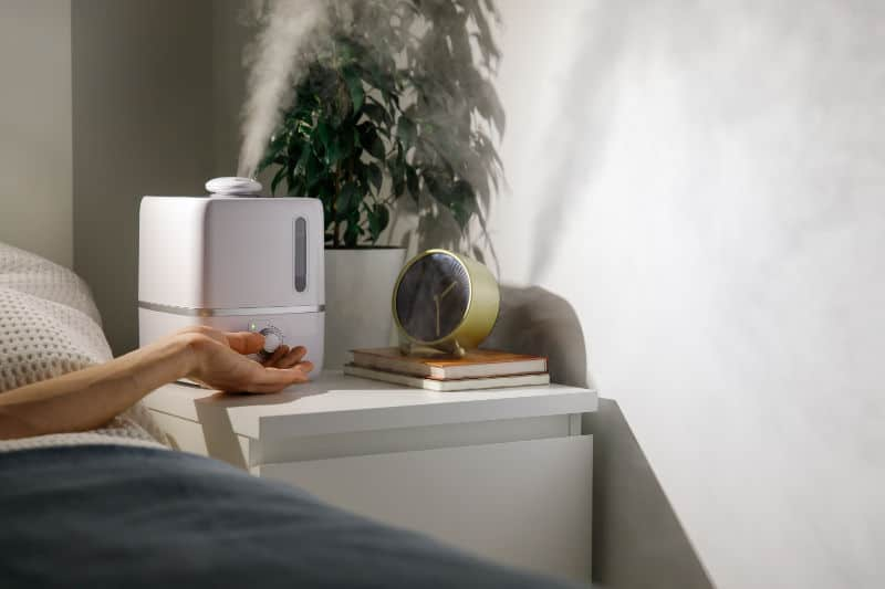 switch on humidifier